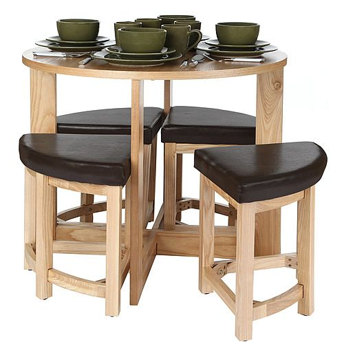 Dining Room Corner Decorating Ideas Space Saving Solutions: Space-Saving Kitchen Table & Stool Set