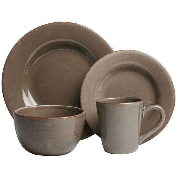 Tag Sonoma 16 Piece Dinnerware Set - Simple relaxed versatile the Tag Sonoma 16 Piece Dinnerware Set says a lot about you.  sc 1 st  Pinterest & Tag Sonoma Warm Gray Dinnerware 16-piece Set ($85) ? liked on ...