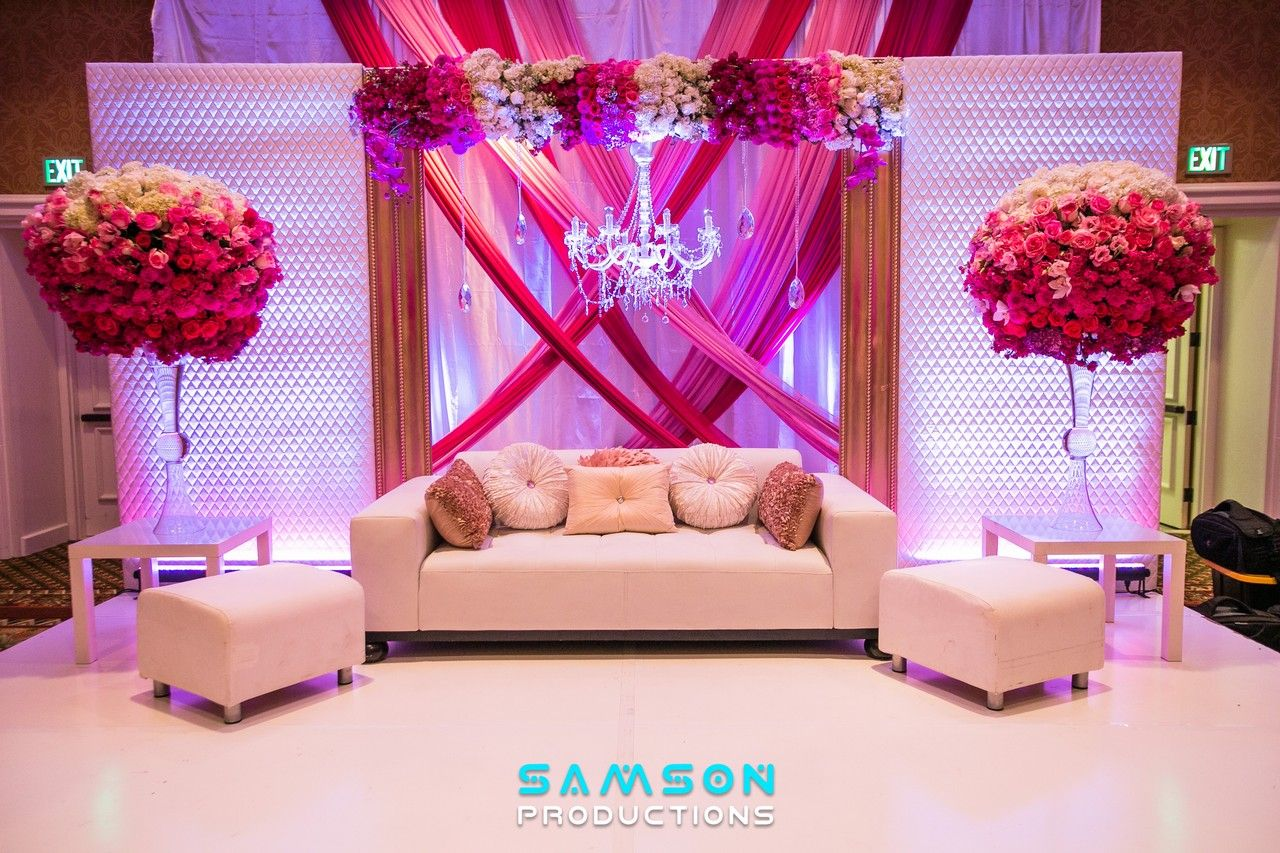 Wedding decoration stage backdrop  CreateDesigns Oh My Ombre Wedding Decor Absolutely Stunning