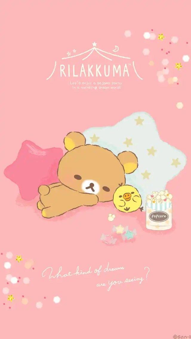 Rilakkuma popcorn (^_−)−☆ Rilakkuma wallpaper, Cute