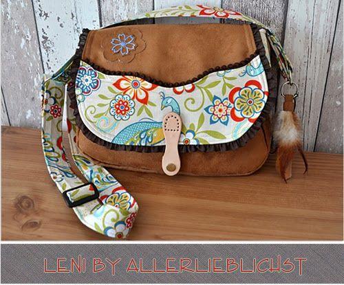 Tasche Leni by Allerlieblichst, Wildleder-Imitat von Stoff & Stil