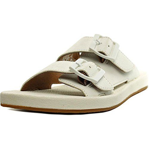 cede8c57bddc0 Clarks Paylor Pax Women Open Toe Synthetic Slides Sandal White Size 90 --  Click on the image for additional details. (This is an affiliate link)