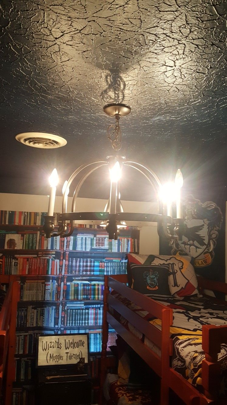 detailed pictures ca5f6 c630d Harry Potter bedroom ideas navy ceiling all four houses ...