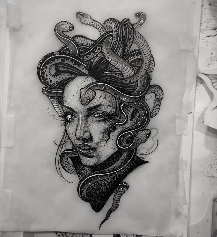 Medusa Illustration Tattoo: Medusa Tattoo, Tattoo Drawings, Sleeve Tattoos