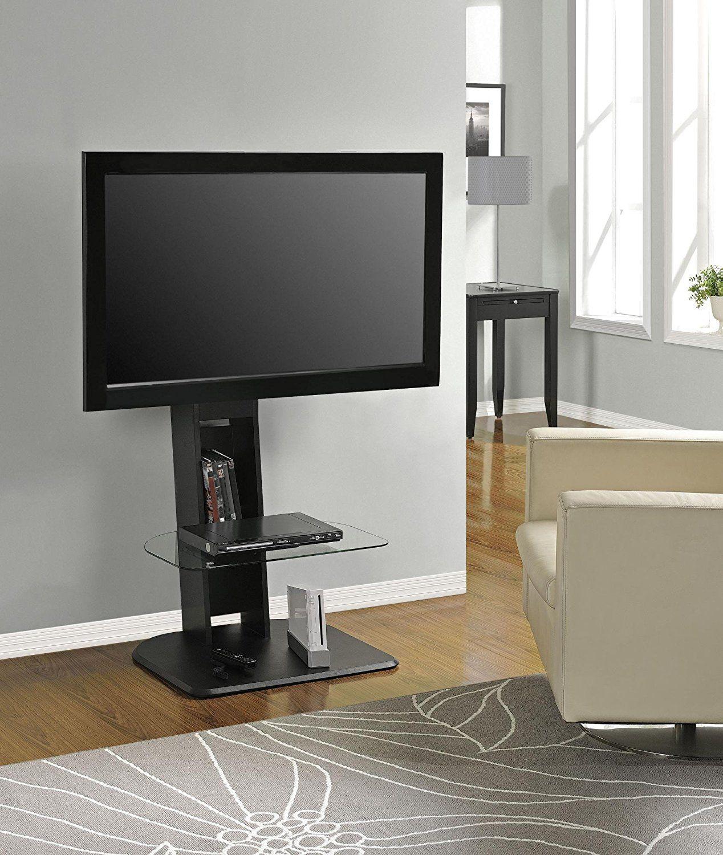 Ameriwood Home Galaxy Tv Stand With Mount Chernye Nomera Tumby Pod Televizor Dlya Doma