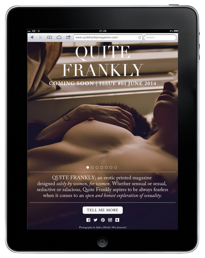 Www Quitefranklymagazine Com An Erotic Magazine Designed By Women For Women