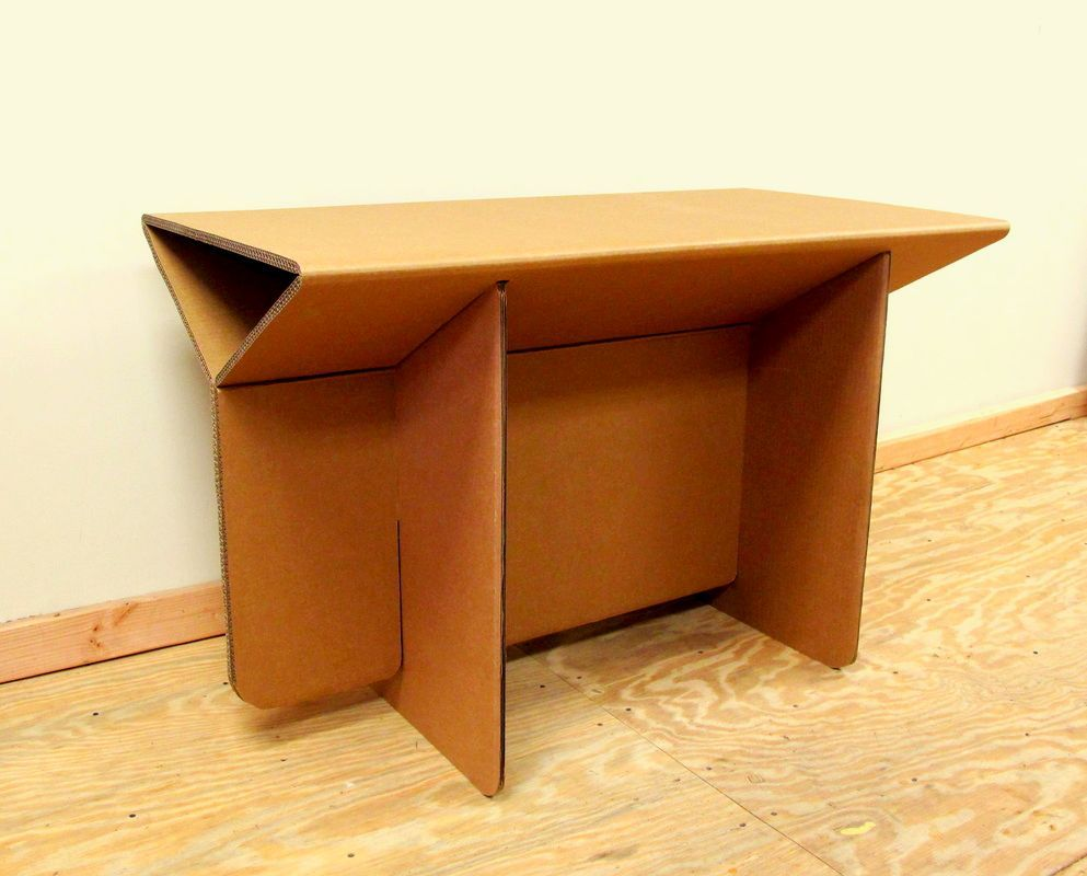 bureau box meuble desk pinterest en pin carton cardboard