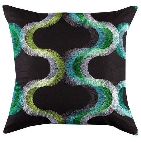 Sofakissen Design cushion cover kiri green design 45 x 45cm home decor cotton bobin