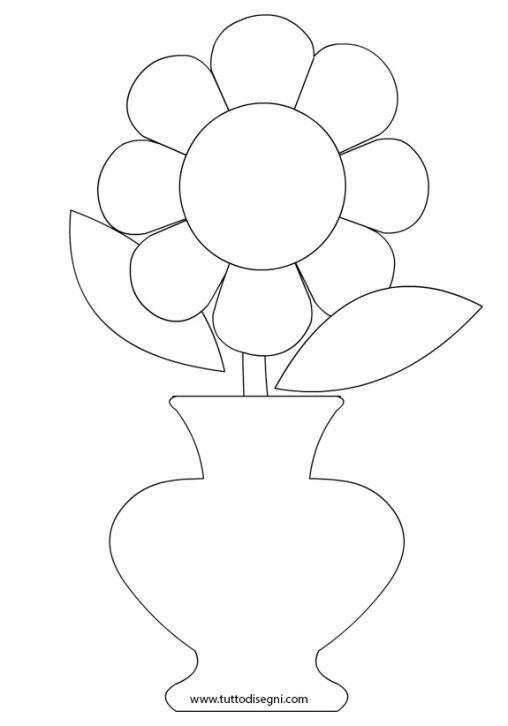 Открытка ваза с цветами шаблон