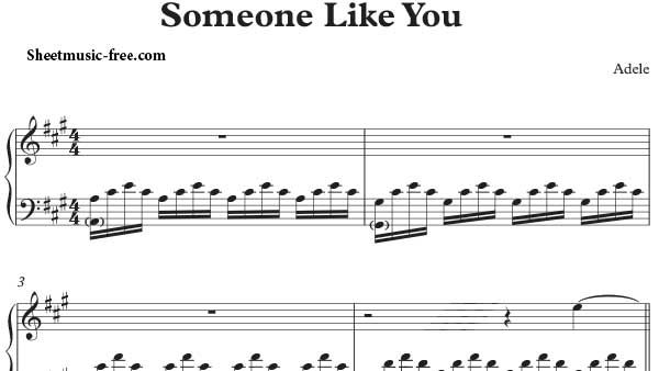 Someone Like You Piano Sheet Music Pdf