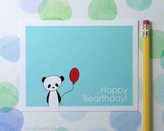 Panda Happy Birthday Card Cute Birthday Card Pun Birthday Card Fun Card Pun Card Friend Birthday Card Handma Birthday Card Puns Etsy Paper Happy Birthday Cards