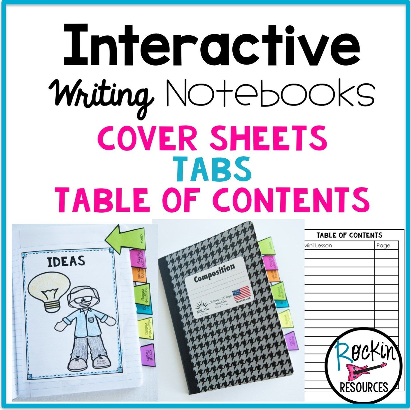 Writing Mini Lesson 8 Table Of Contents And Progress