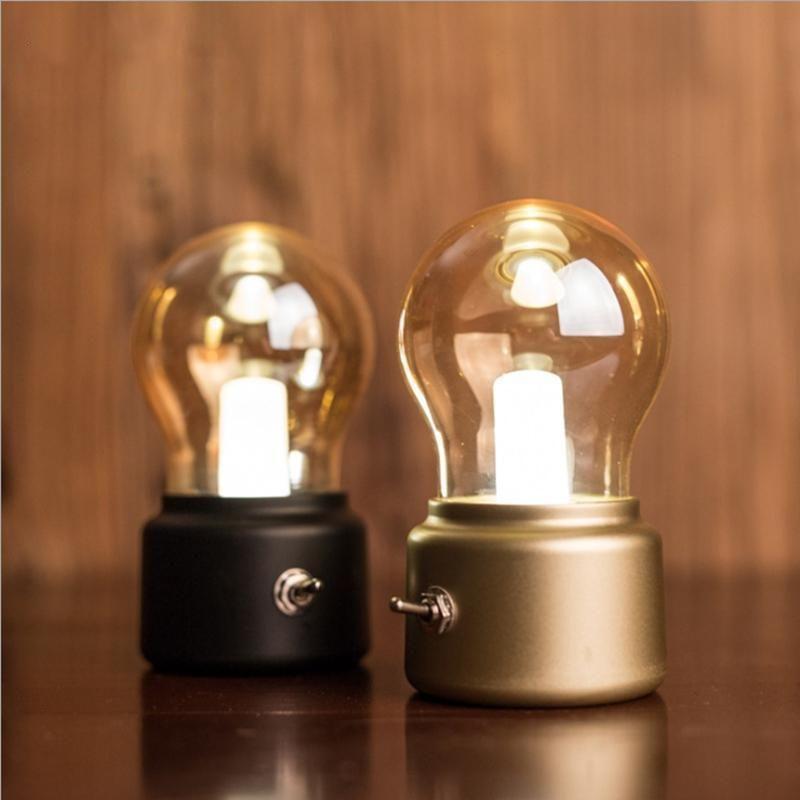 Rechargeable Retro Night Light Nachtleuchte Nachtlampen Lampe
