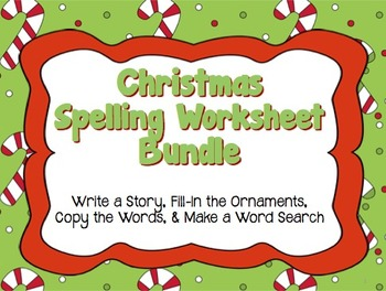 Christmas Spelling Words.Christmas Spelling Worksheets For Lower Or Upper Elementary