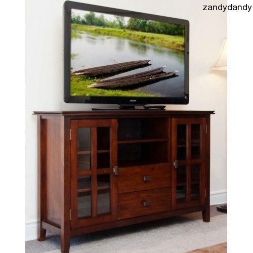 Mission Style Tv Stand Distressed Media Console Entertainment Centre Wooden  Unit