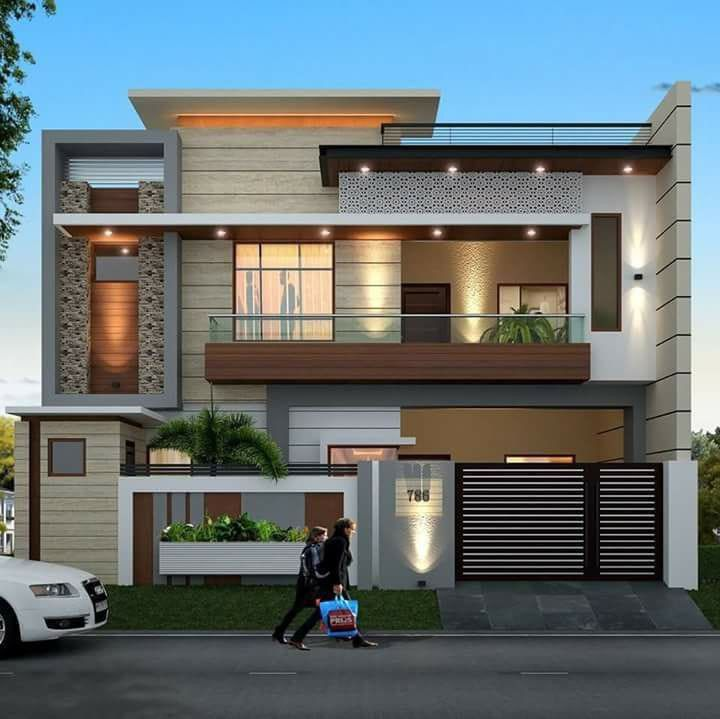 Indian Home Exterior Design Pictures: Bungalow House Design, Modern