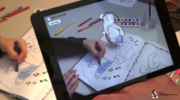 Live Texturing Of Augmented Reality Characters From A Colored Drawing Coloring Book App Coloring Books Augmented Reality