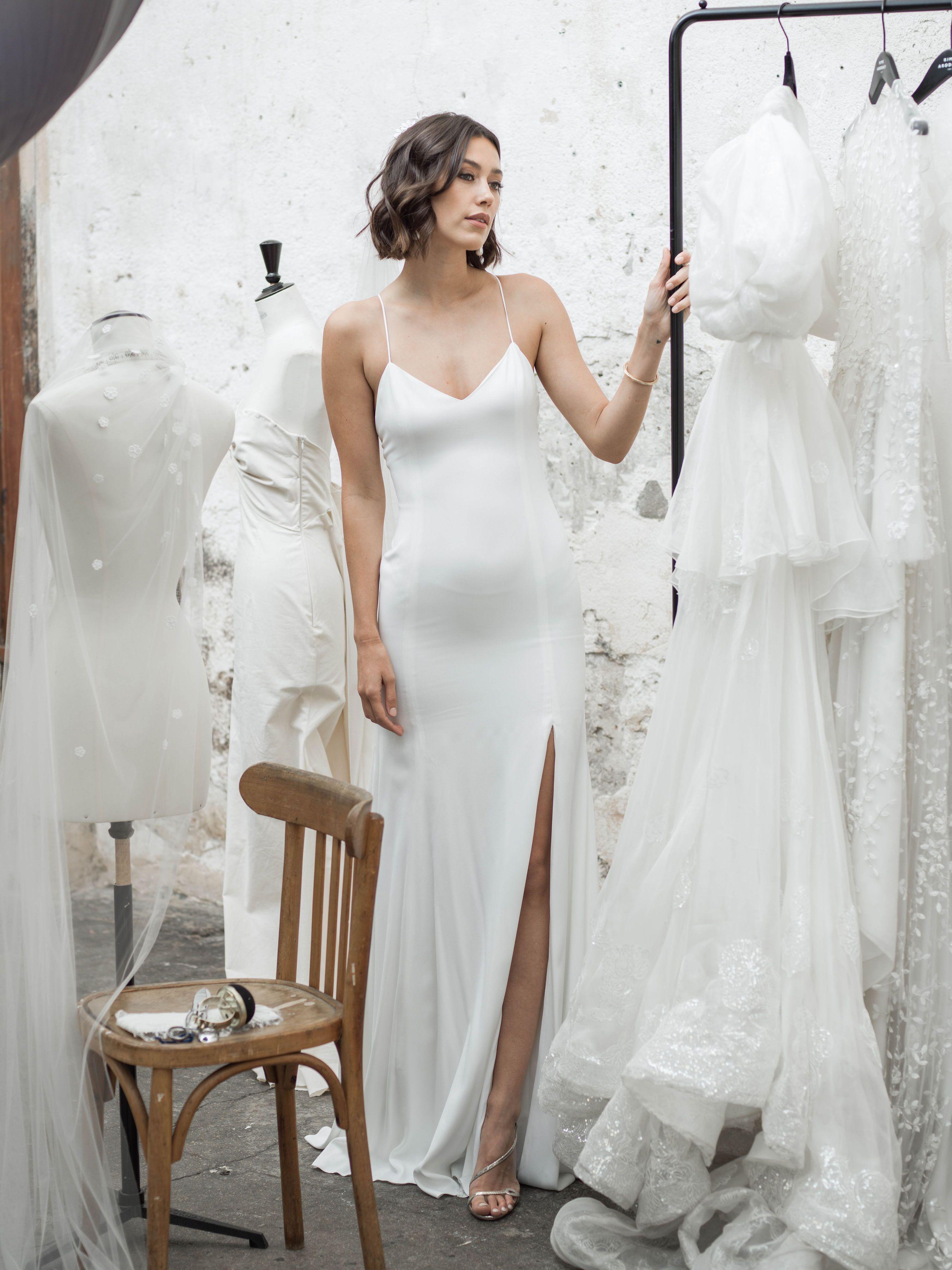 Janis Maison Rime Arodaky White Slip Dress Long Dress Skirts High Waist Dress [ 3600 x 2698 Pixel ]
