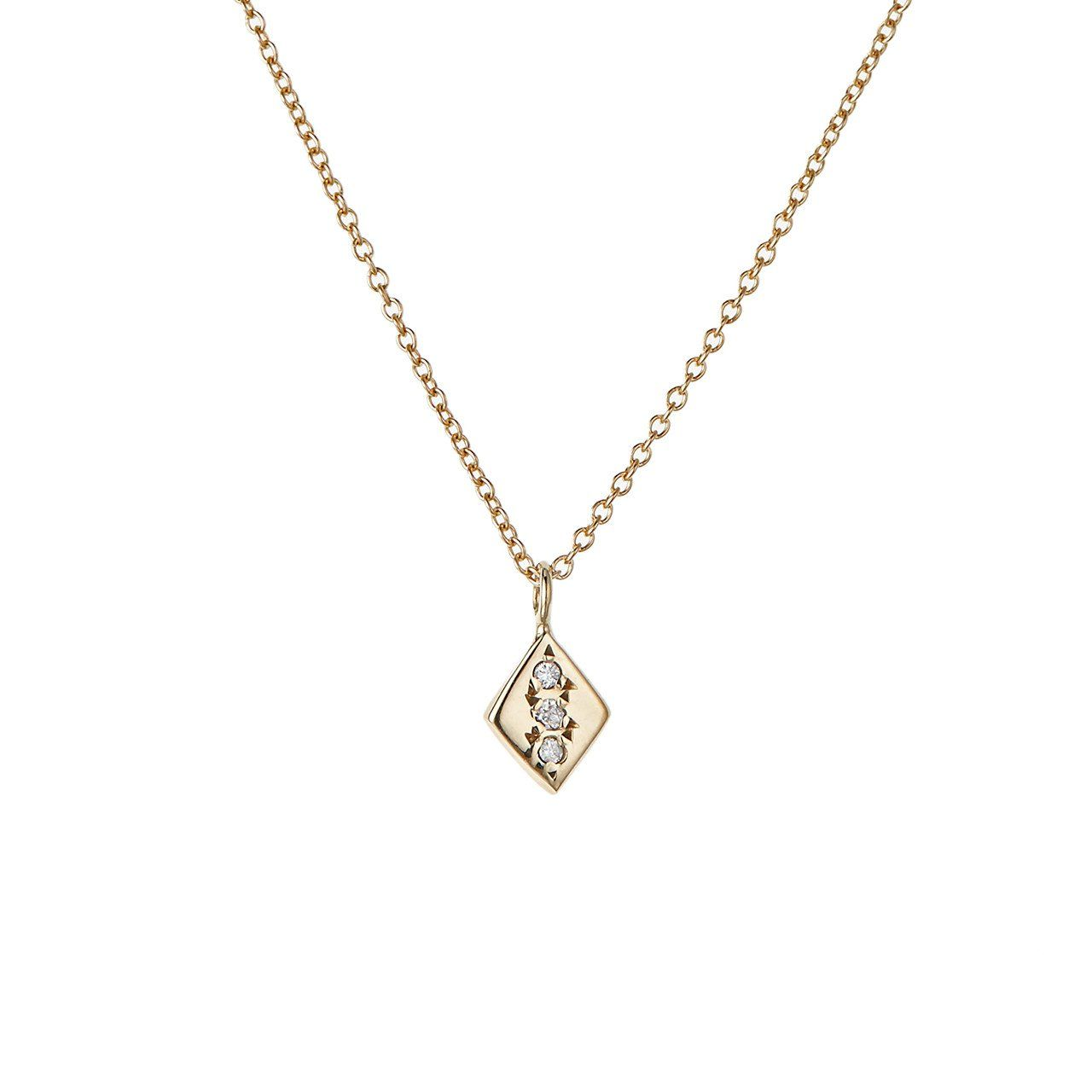 Rhombus necklace white diamond put it on in pinterest