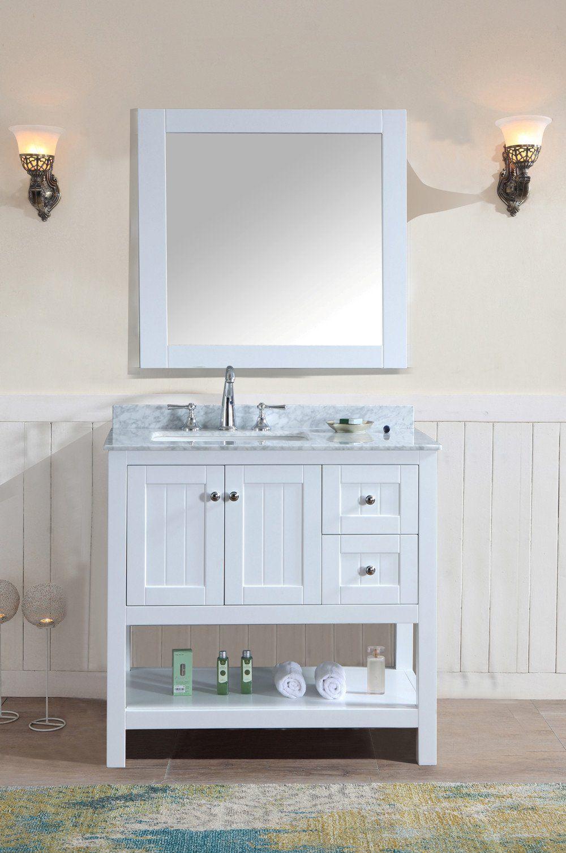 Emily 36 Bathroom Vanity White White Vanity Bathroom Bathroom Vanity Bathroom