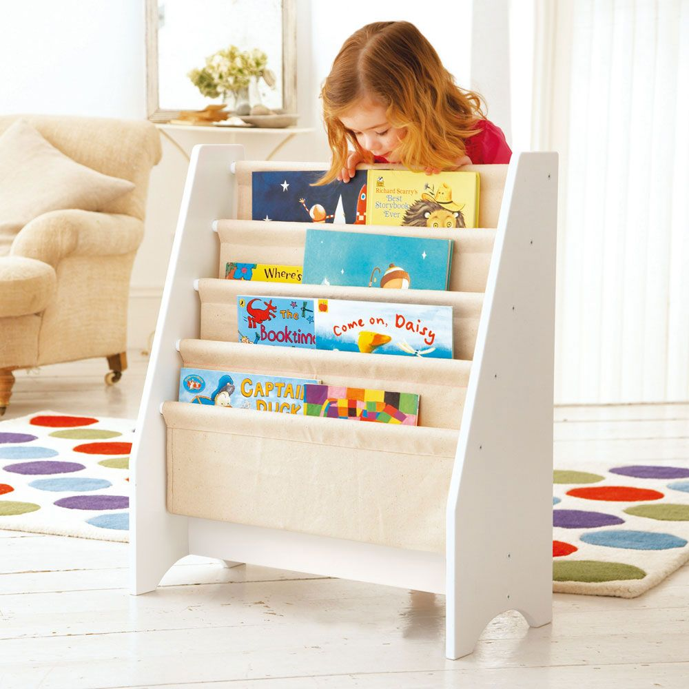 half price sling bookcase perfect for storing those large oversized children 39 s books diy. Black Bedroom Furniture Sets. Home Design Ideas