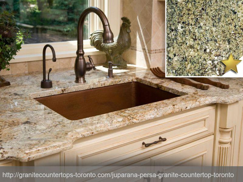 In Stock Juparana Persa Granite Countertops In Toronto Cream Kitchen Cabinets Granite Kitchen Granite Countertops