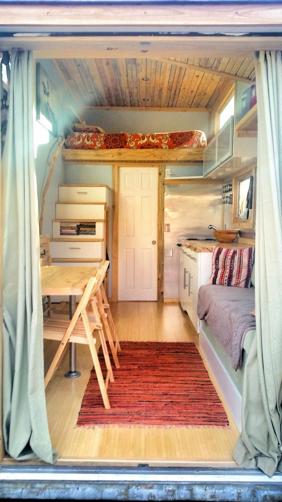 A 159 Square Feet Tiny House On Wheels Clad In Various