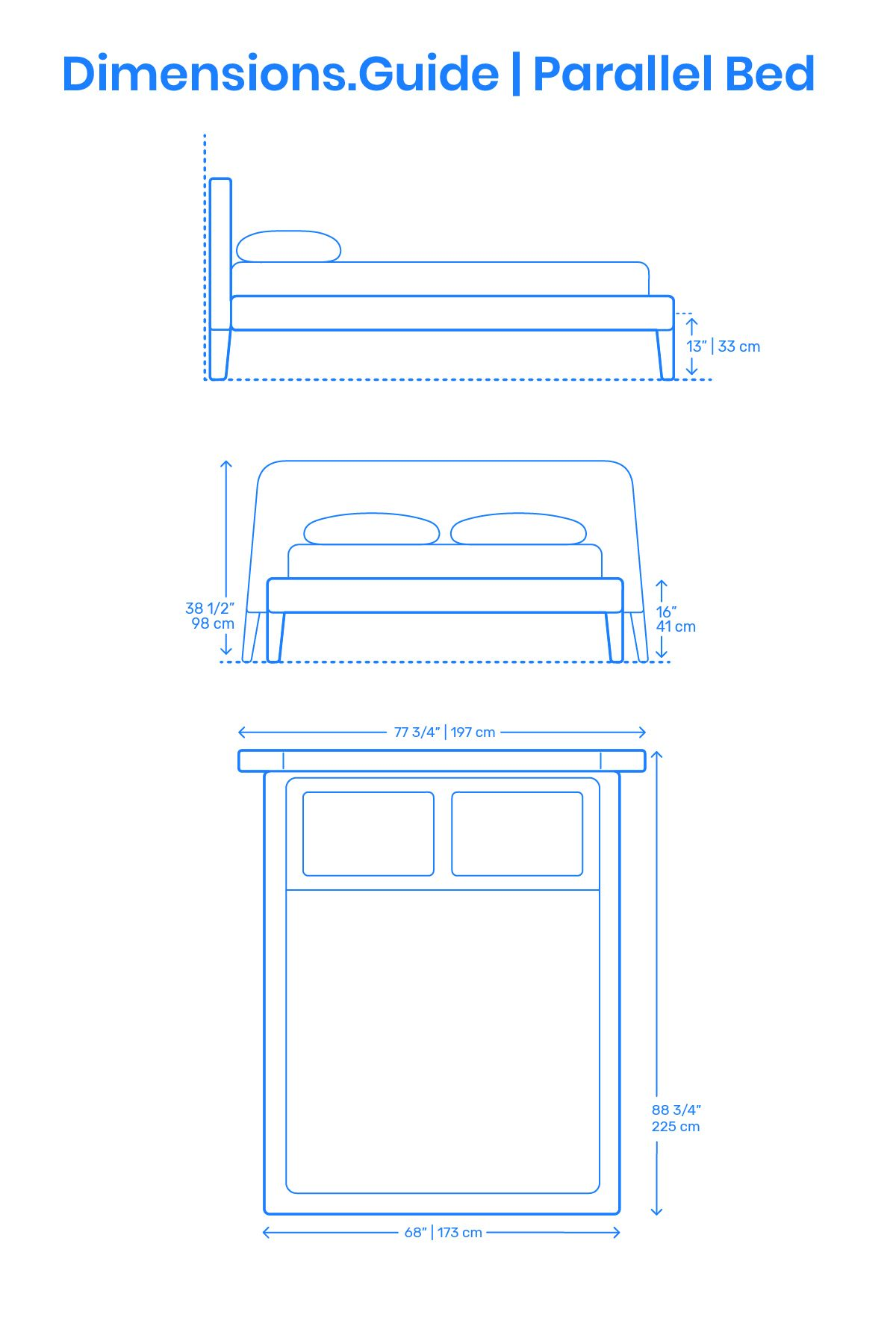 Parallel Bed Frame Design Dimensions Malm