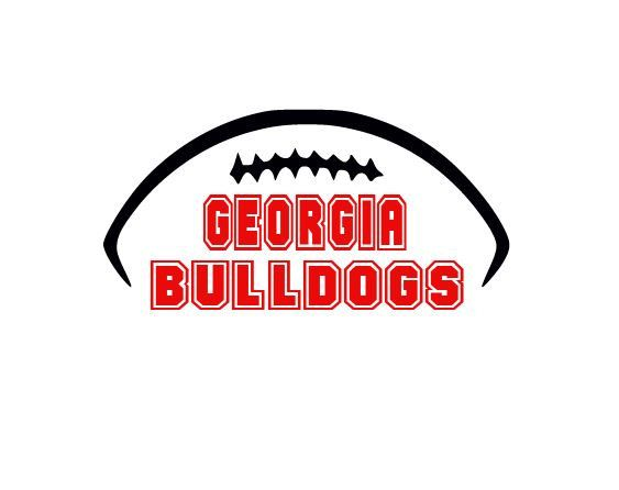 Georgia Bulldogs College Football Cutting Files Silhouette SVG, DXF and EPS…