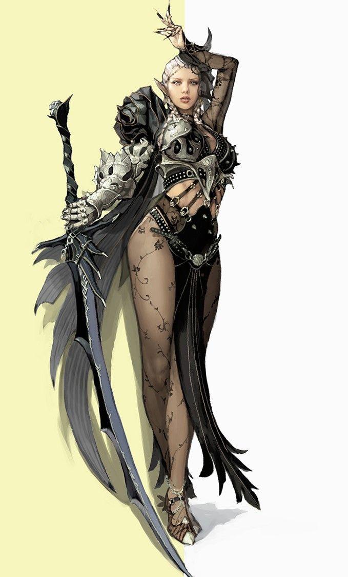 Black Desert Character Design Download : Beautiful black desert online artwork shows dark elf class