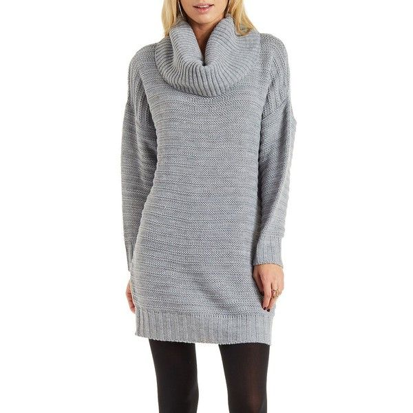 Charlotte Russe Light Gray Cowl Neck Sweater Dress by Charlotte ...