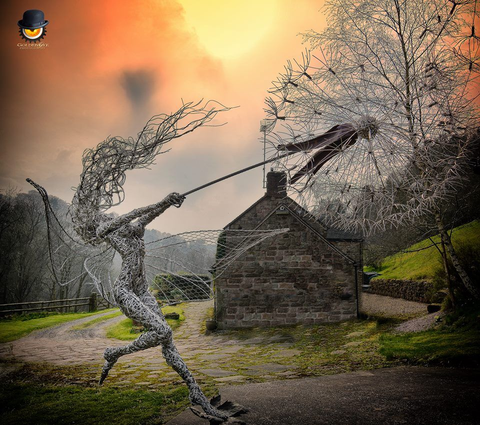 Dancing with dandelions. The sculptor Robin Wight