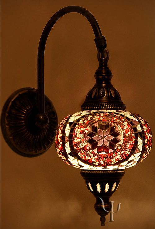 Mosaic Wall Lamp | The Art of Light | Pinterest | Mosaic ...