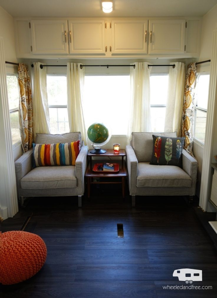 Our rv fifth wheel living room after the remodel and - Front living room travel trailers ...