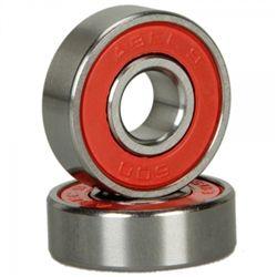8pcs Abec 9 Durable Titanium & Stainless Steel Sporting Goods Skateboard Bearings Red