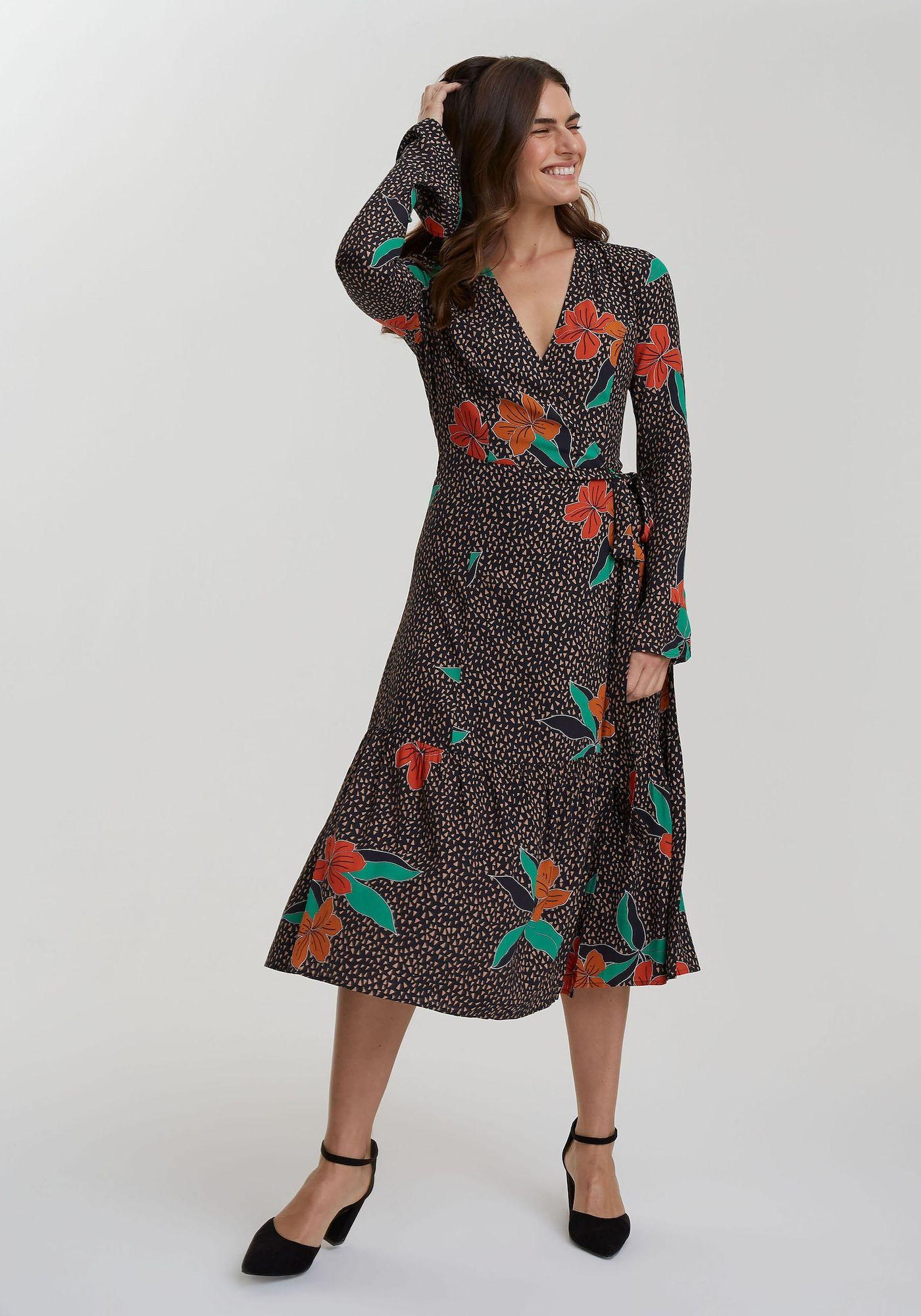 Long Tall Sally Gestuftes Kleid für große Frauen Damen, bunt