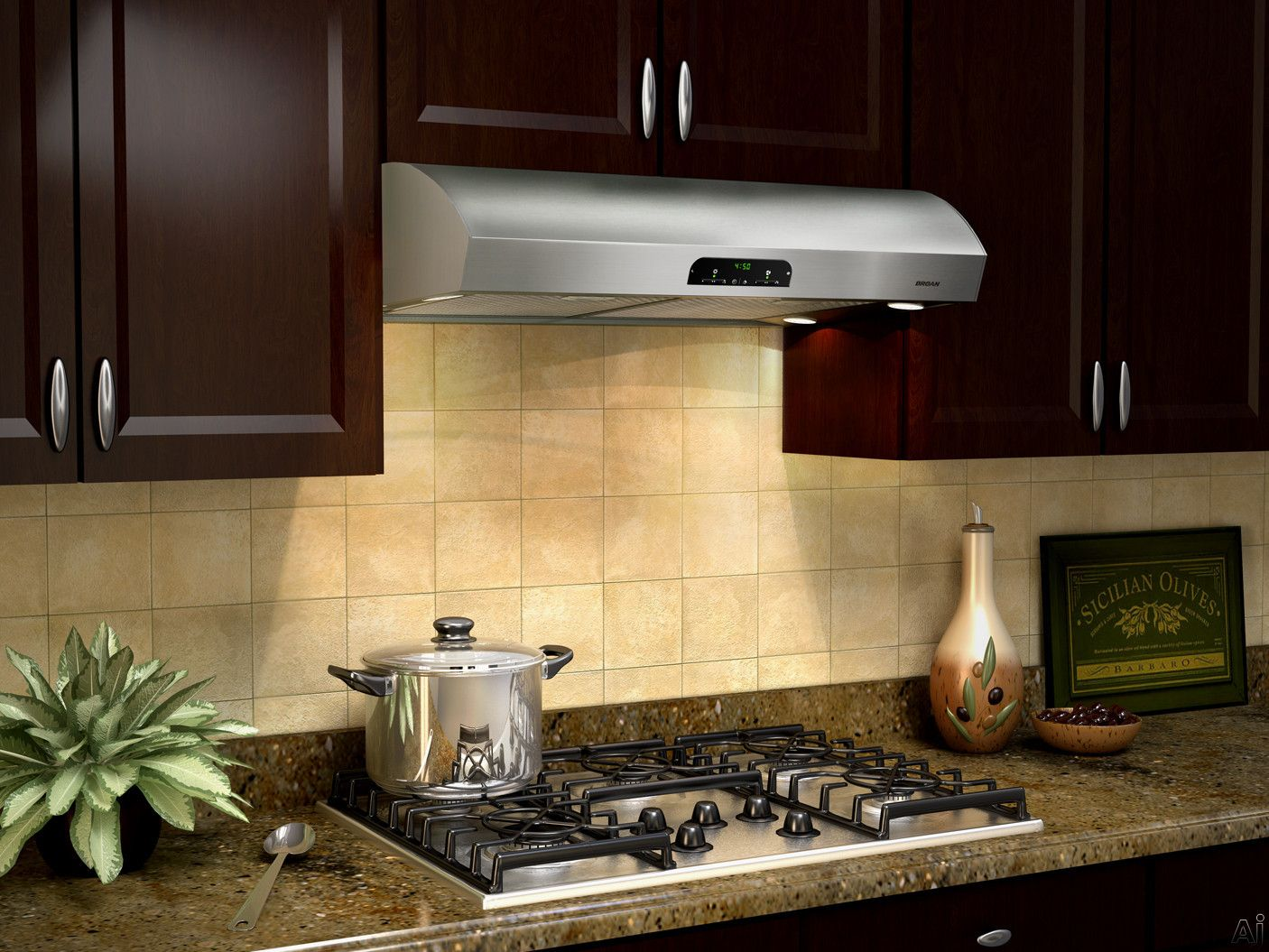 Broan Qp430ss Under Cabinet Range Hood With 630 Cfm Internal Blower Advanced Heat Sentry 4 Level Theatre Lighting Ambient Night Time Sensor And Mesh Filters Range Hood Under Cabinet Range Hoods Kitchen Cabinets