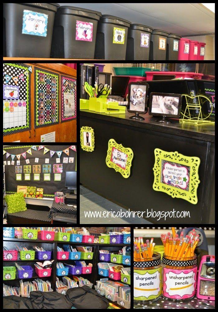 Classroom Decoration Theme Ideas Part - 19: Ericau0027s Ed-Ventures: Black U0026 White Polka Dot Plus Brights Classroom Decor  Reveal