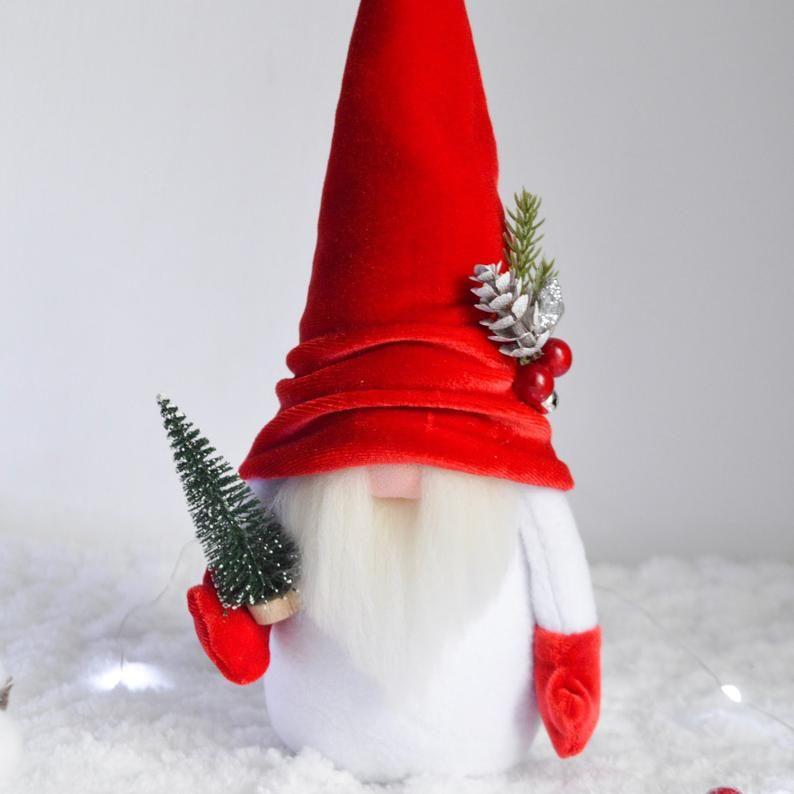 New Year Gnom Santa Gnome Christmas Gnome Holiday Gnome Decor   Etsy