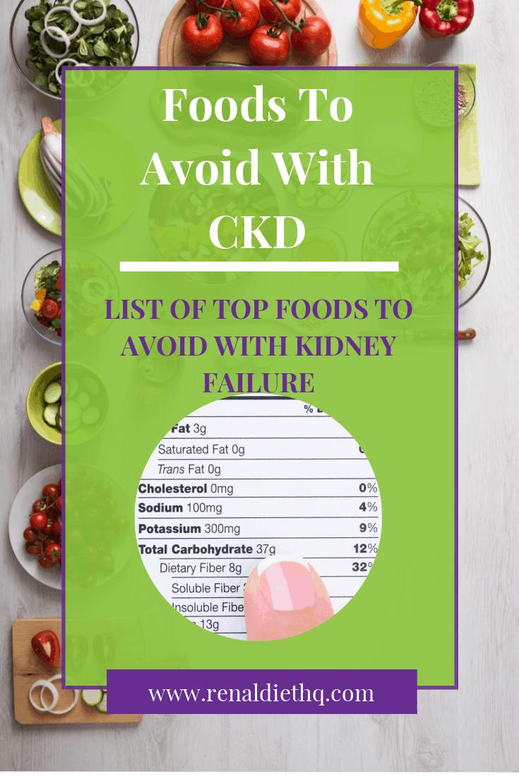 Top Foods to Avoid for Chronic Kidney Disease Renal diet