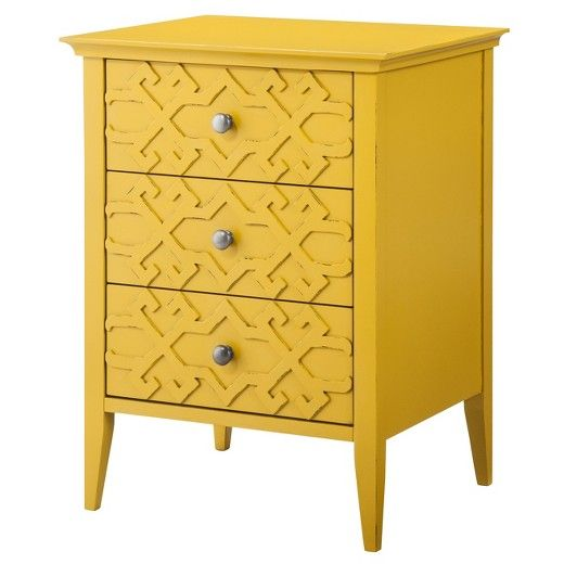 Genial Threshold Fretwork Accent Table