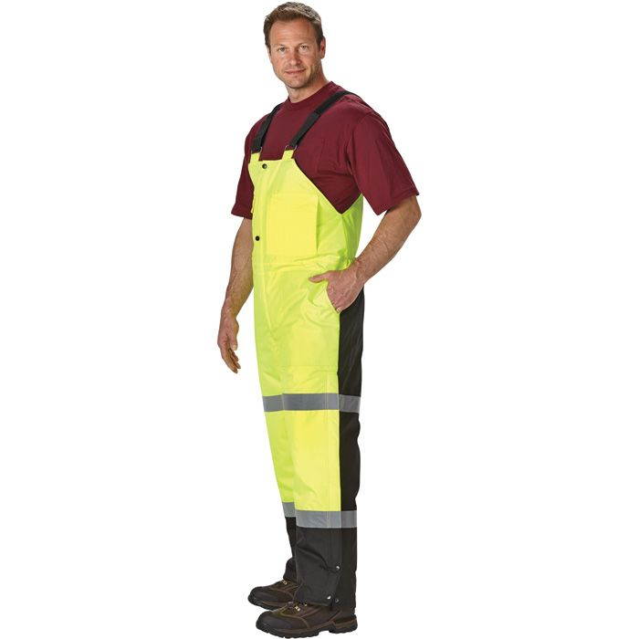 utility pro wear high visibility insulated bib overall on insulated overalls for men id=95900