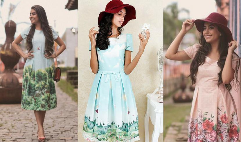 d8e3dc117 Onde comprar vestidos fofos estilo romântico e vintage. Comprar online