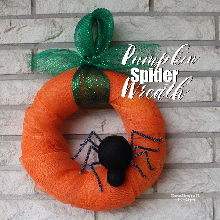 Pumpkin Spider Halloween Wreath!