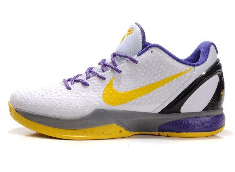 Zoom Kobe VI White Yellow Purple   Nike