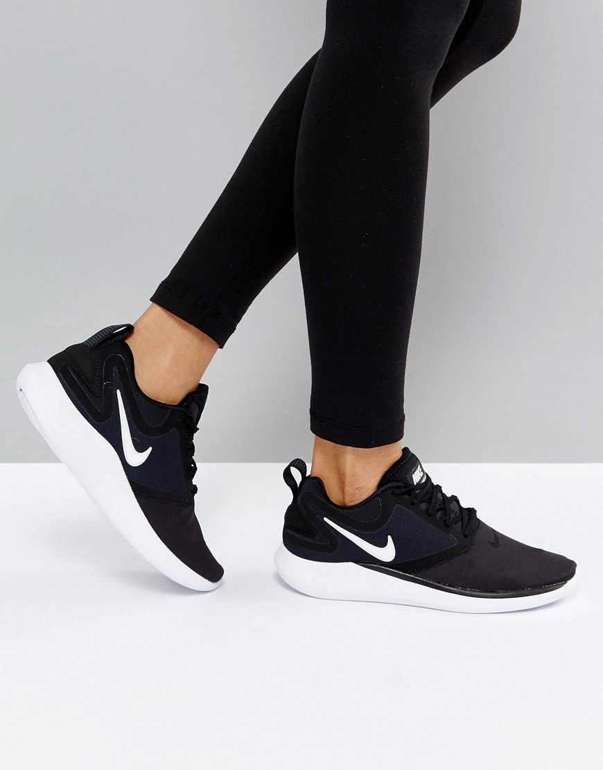 b259970dc9d Get this Nike s running shoes now! Click for more details. Worldwide  shipping. Nike Running Lunarsolo Trainers In Black And White - Multi   Trainers by Nike