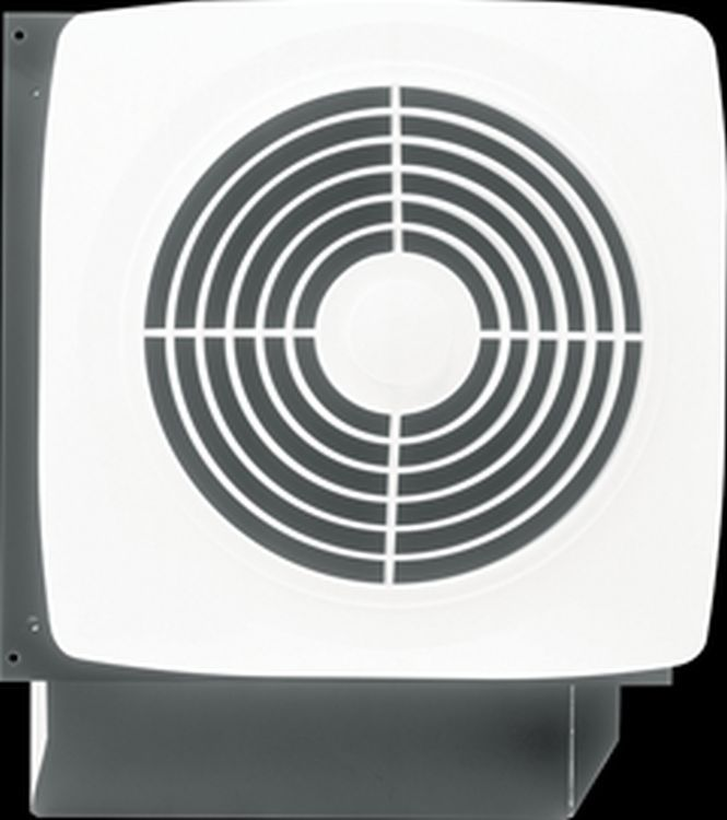 Broan 509 8 Inch Through Wall Ventilation Fan With White Square Plastic Grille 180 Cfm Ventilation Fan Bathroom Fan Broan