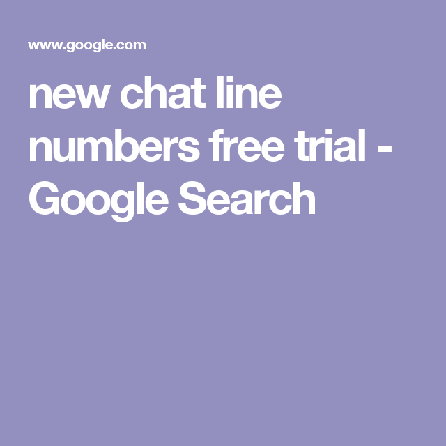 all free trial chat line numbers