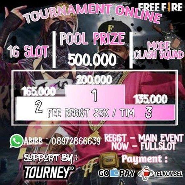 Tournament Freefire Clash Squad Open Regits Now In 2021 Tournaments Squad Online