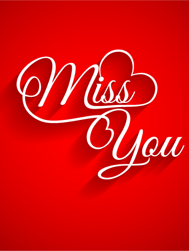 Miss You Card: Sometimes you can miss someone so much that it feels like you can't breathe. Your thoughts are filled with them and the next time you get to see them. That's a tough thing to experience and there's nothing that will magically make it all better. You can make it a little better but sharing your feelings with them. Let them know they're in your thoughts even if they're not in your presence.
